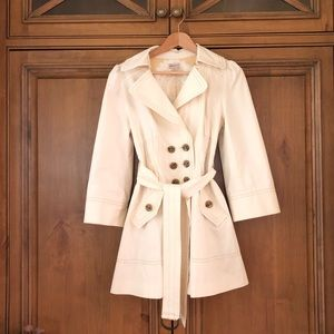 elevenses (anthro) trench coat